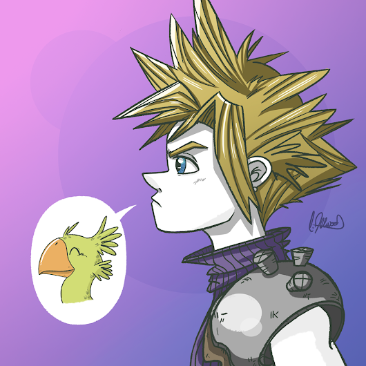 Watermelon Pips: Cloud (Final Fantasy VII)