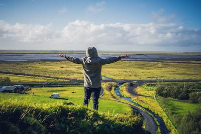 Prados verdes en Septiembre en Islandia