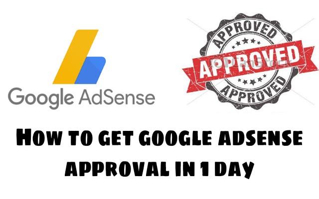 Google adsense account approve kaise karaye?