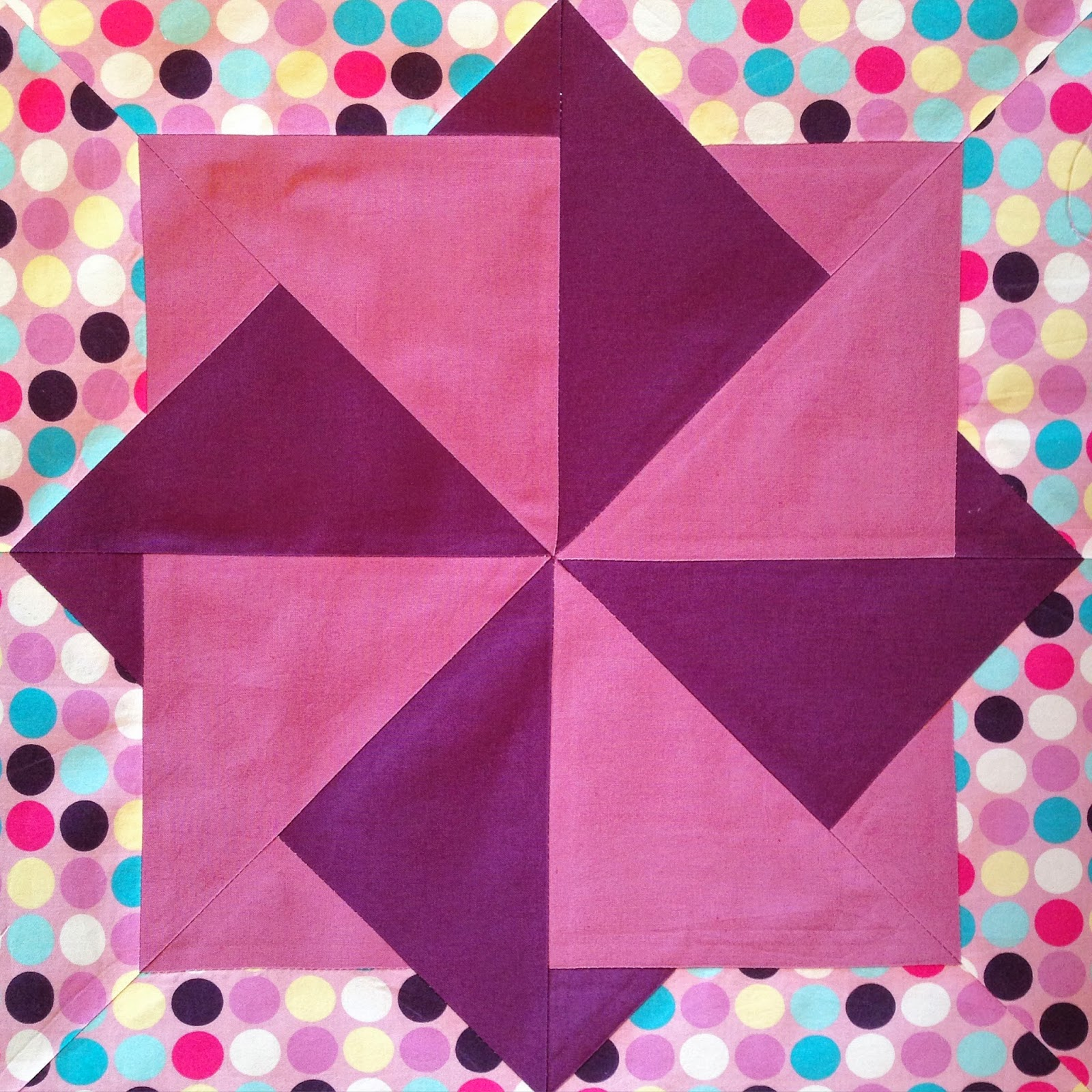 Layered Quadruple Wheel, Quilt