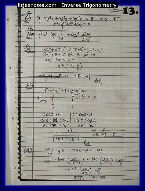 inverse trigonometry notes1