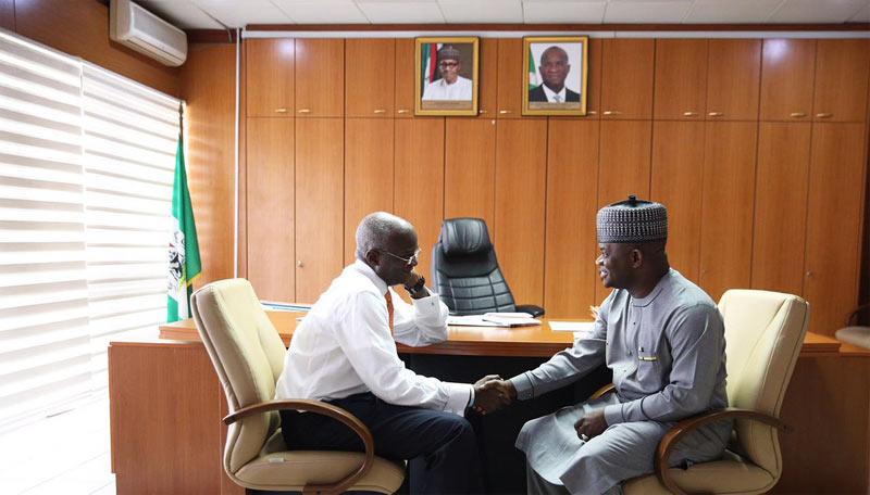 Kogi State governor Yahaya Bello visits Fashola