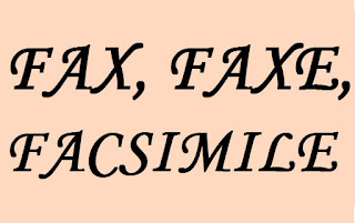 Qual a forma correta? FAX, FAXE, FACSIMILE