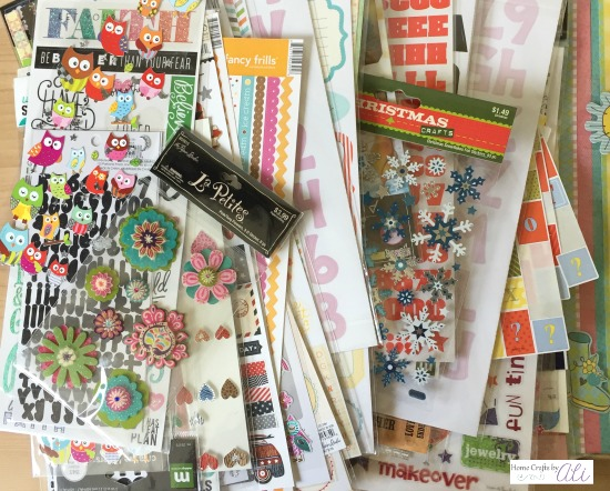 oodles of cute stickers in craft stash