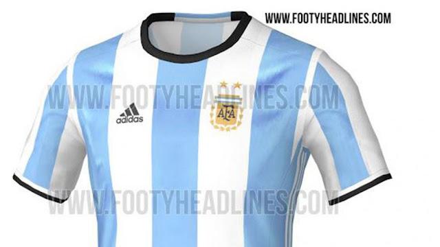la nueva camiseta de la seleccion argentina de futbol - copa america centenario 2016