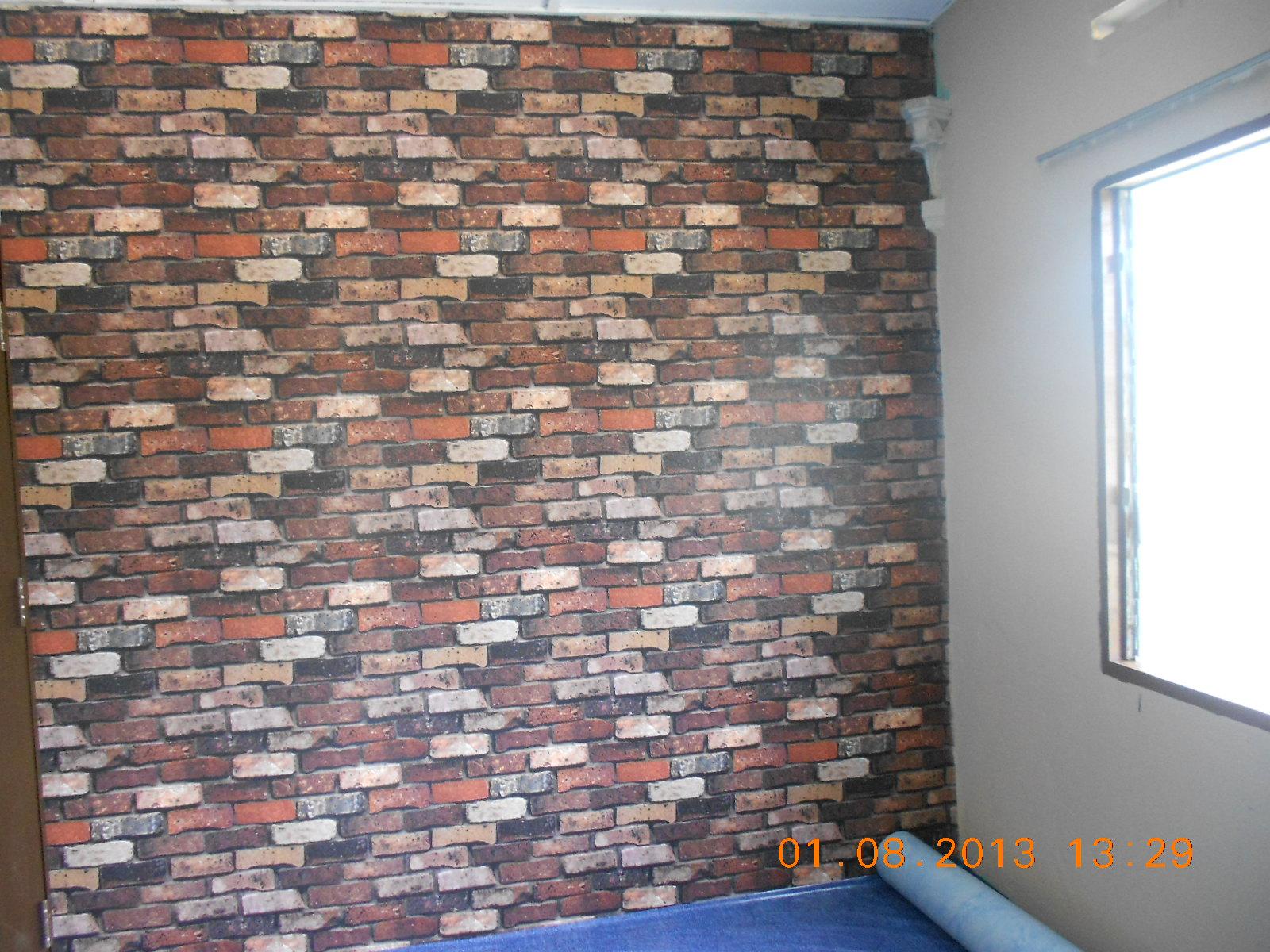 Wallpaper Batu Bata 3d Wallpaper Batu Bata Di Ruang Tamu Baiti Jannati Deco