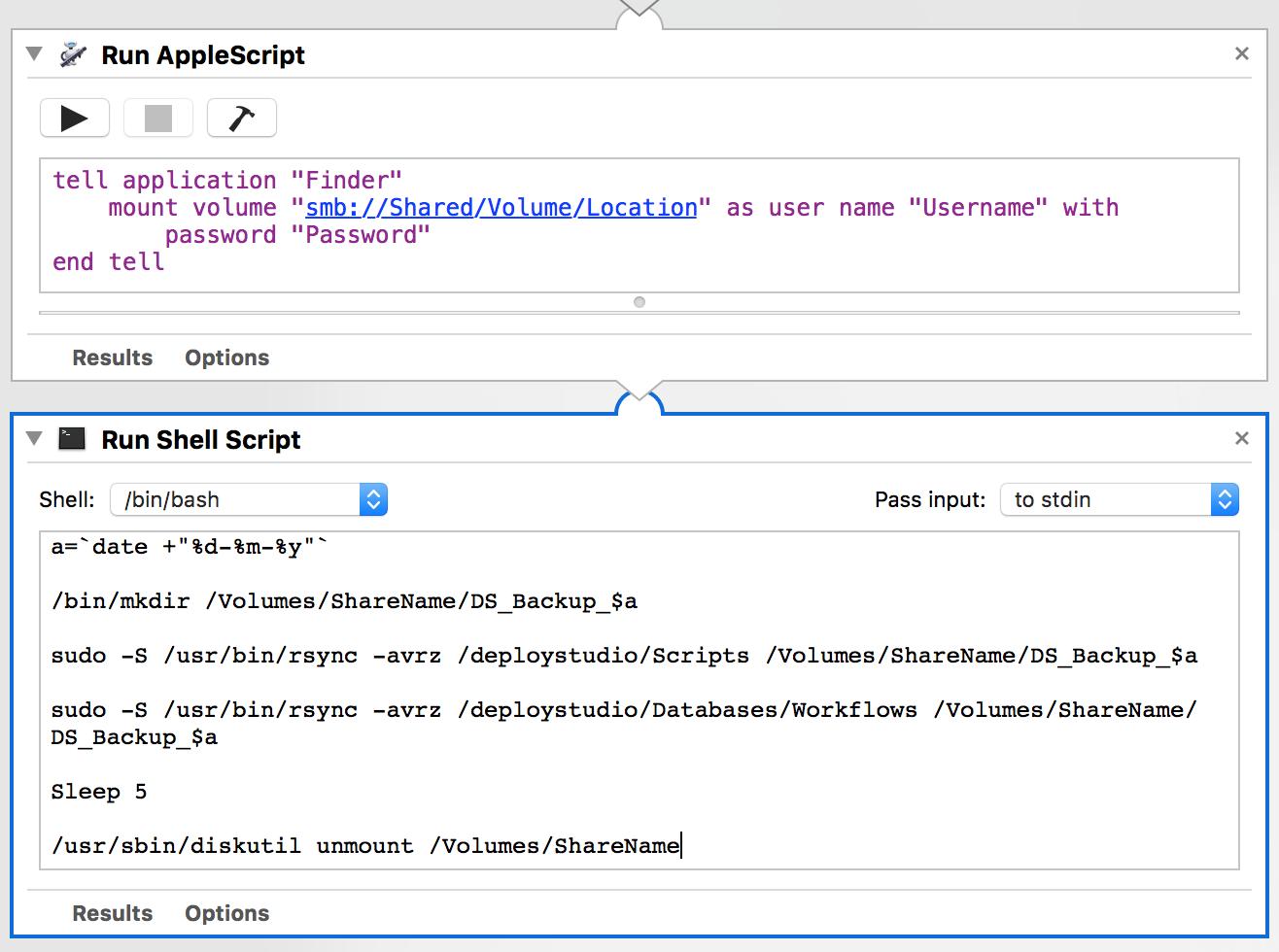Schedule Backup of DeployStudio Custom Scripts and Workflows
