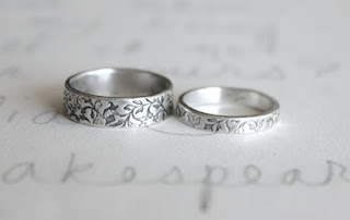 recycled antique silver wedding band