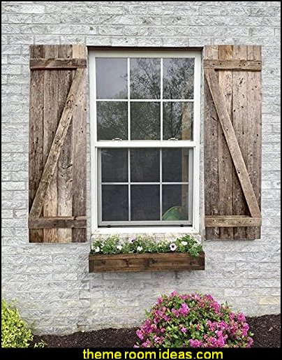 Barnwood Rustic Decorative Wood Window Shutters  rustic industrial farmhouse decorating - Industrial farmhouse decor - rustic farmhouse decor - industrial farmhouse living - barn door decor - rustic farm style deccor -  Modern Farmhouse decor - Sliding barn Doors - modern industrial farmhouse decorating