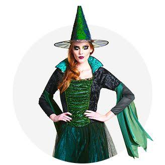 bewitch with her hat and bell sleeve dress beauty and the beast halloween costume