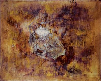 Isao Mizutani,1961, Erosion, mixed media
