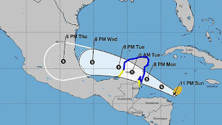 Tropical Storm Franklin gathers strength