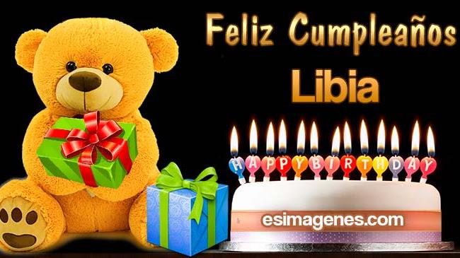 Feliz cumpleaños Libia