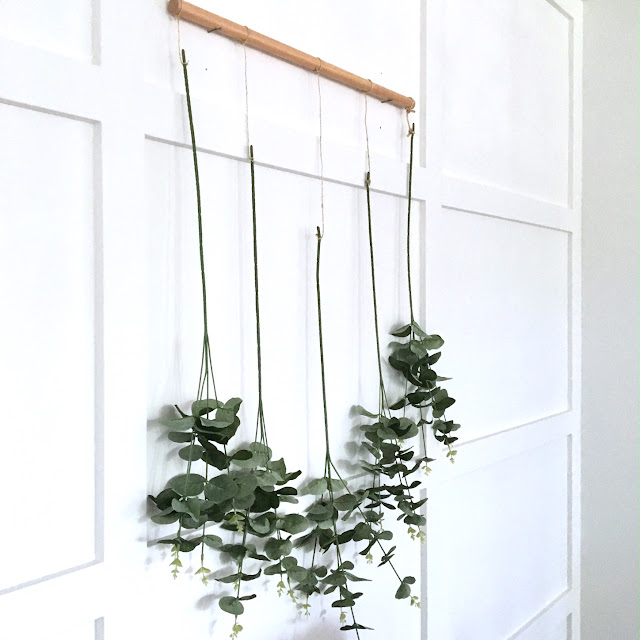 DIY Eucalyptus Wall Hanging Harlow and Thistle 8