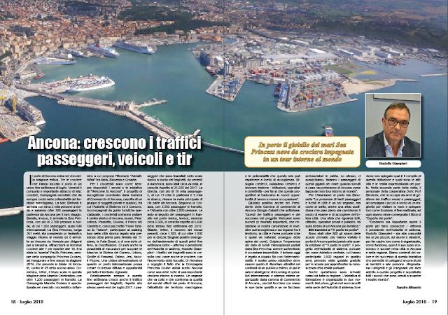 LUGLIO 2018 PAG 18 - Ancona: crescono i traffici passeggeri, veicoli e tir