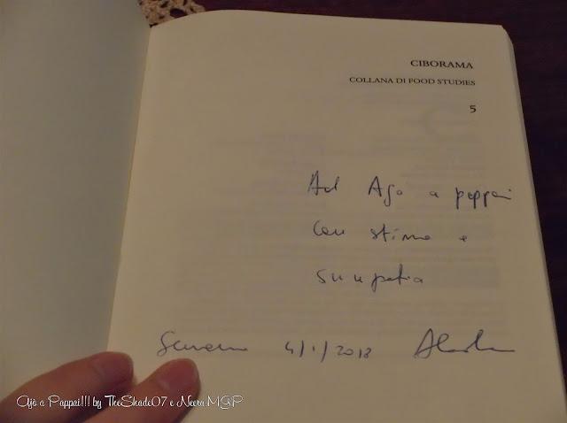 Foto del libro La Lingua dei Santi con dedica ad Ajò a Pappai!!!