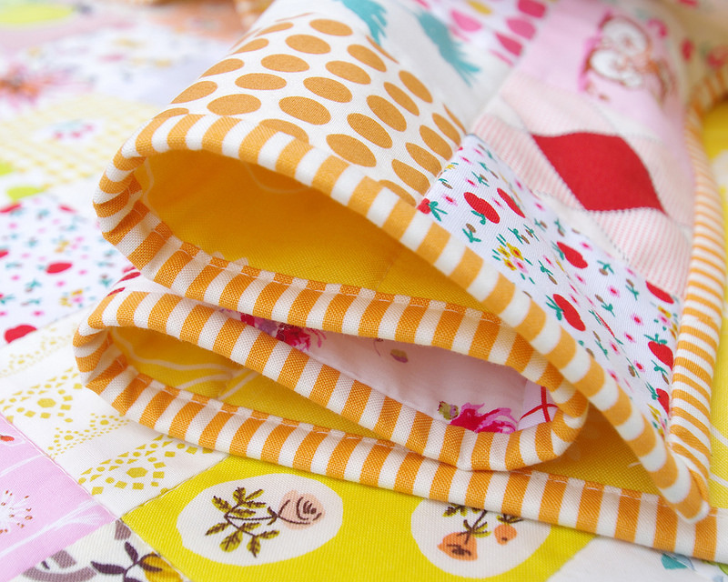 For the Love of Patchwork II Quilt - binding | Red Pepper Quilts 2016