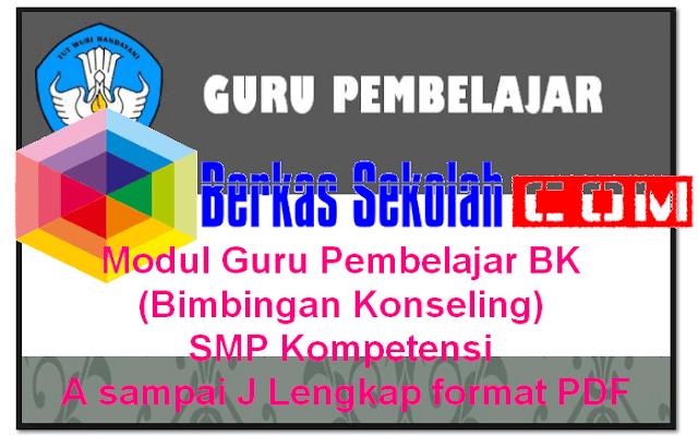 Download Modul Guru Pembelajar BK (Bimbingan Konseling) SMP Kompetensi A sampai J Lengkap format PDF