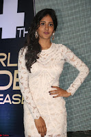 Chandini Chowdary in white Tight dress at Shamanthakamani pre release function ~  Exclusive 033.JPG