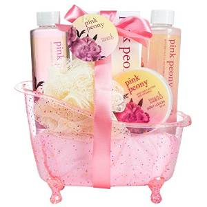 Royal Peony Spa Gift Set in a Dazzling Glitter Tub