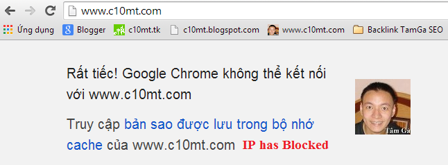 Fake IP has Blocked Banned với Google Translate