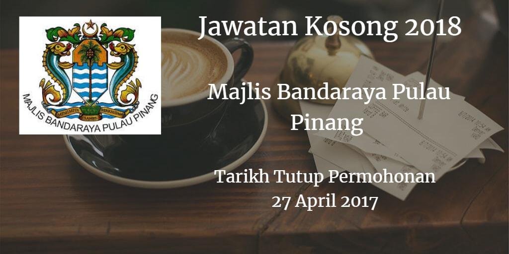 Jawatan Kosong MBPP 27 April 2018