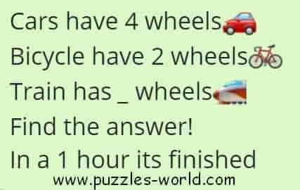 Cars have 4 wheels puzzle