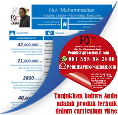 Jasa Pembuatan Curriculum Vitae Online