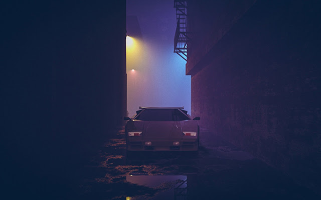 Synth [Kavinsky - Nightcall] Wallpaper Engine