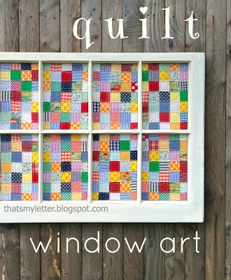 quilt window art