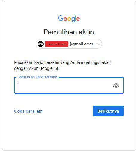Mengatasi Lupa Password gmail dan Nomor HP Sudah Tidak Aktif