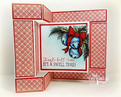 Our Daily Bread Designs Stamp Set: Jingle Bell Time, Our Daily Bread Designs Paper Collection:  Holly Jolly,  Our Daily Bread Designs Fun and Fancy Folds - Tri-Fold, Our Daily Bread Designs Custom Dies: Pierced Squares