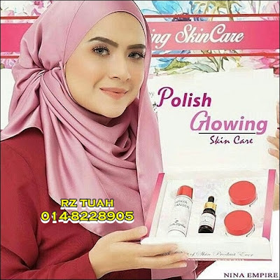 polish glowing skincare nina