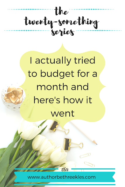 I actually tried to budget for a month - so here's how it went, and how I did it!