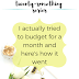 The Twenty-Something Series: I actually tried to budget for a month and here's how it went