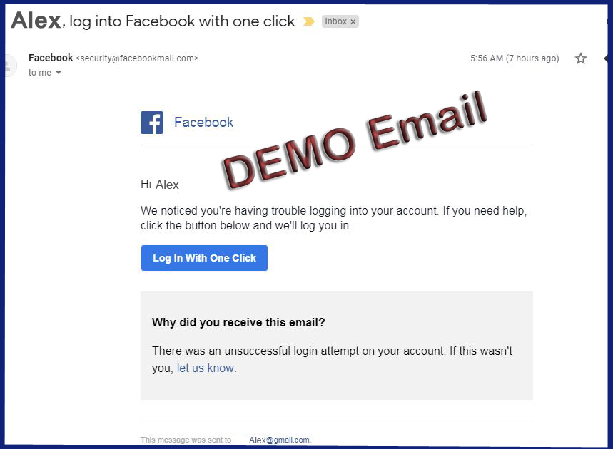 FACEBOOK SECURITY BREACH, PHISHING EMAIL FROM FACEBOOKMAIL.COM