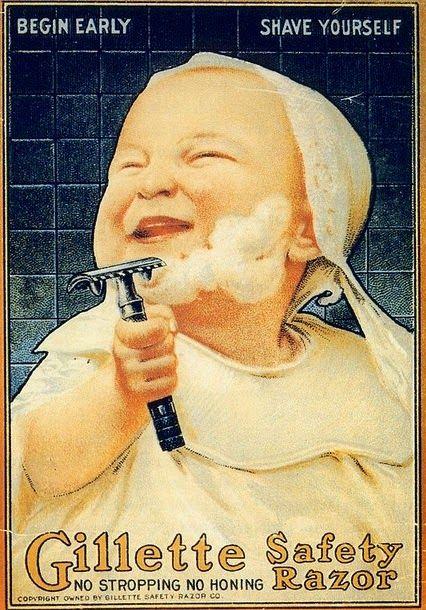Publicité 1910 Gillette Safety Razor - Article Blog beauté Les Mousquetettes