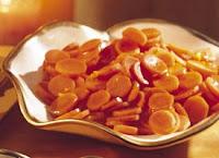 Zanahorias glaseadas al microondas