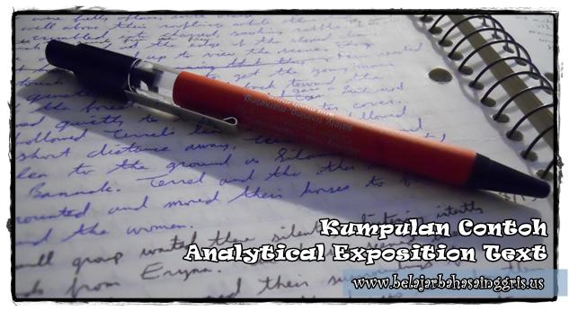Kumpulan Contoh Analytical Exposition Text Terjemahan