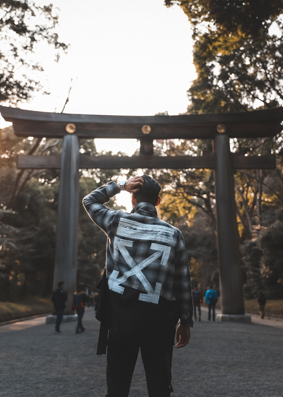 Leo Chan at Meiji Shrine Wall Tokyo