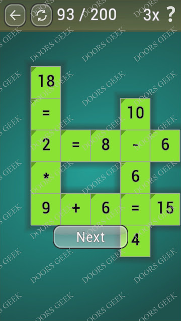 Math Games [Beginner] Level 93 answers, cheats, solution, walkthrough for android