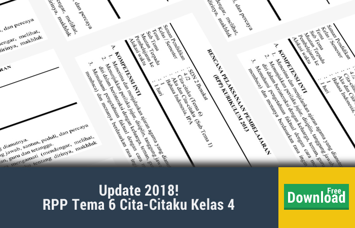 RPP Tema 6 Cita-Citaku Kelas 4