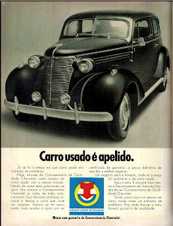 propaganda Concessionária Chevrolet - 1972;  1972; brazilian advertising cars in the 70s; os anos 70; história da década de 70; Brazil in the 70s; propaganda carros anos 70; Oswaldo Hernandez;