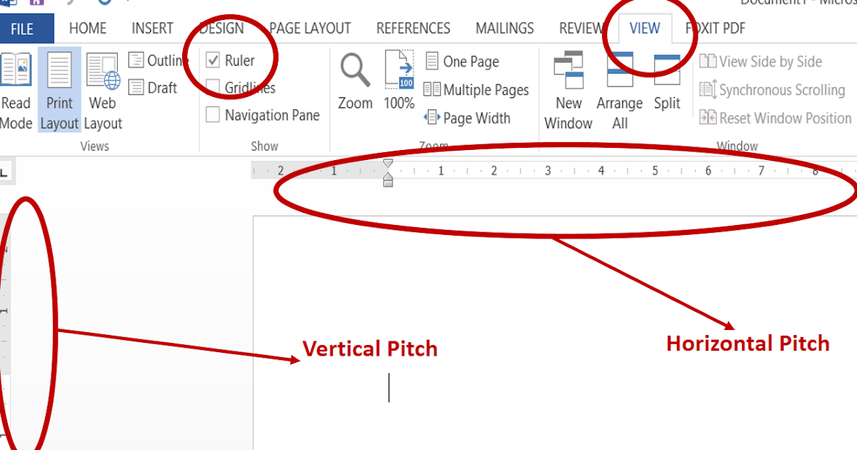 Cara Memuncukan Ruler Vertical Dan Horizontal Pitch Pada Ms Word 2013 Let S Learn Together To Get Knowledge
