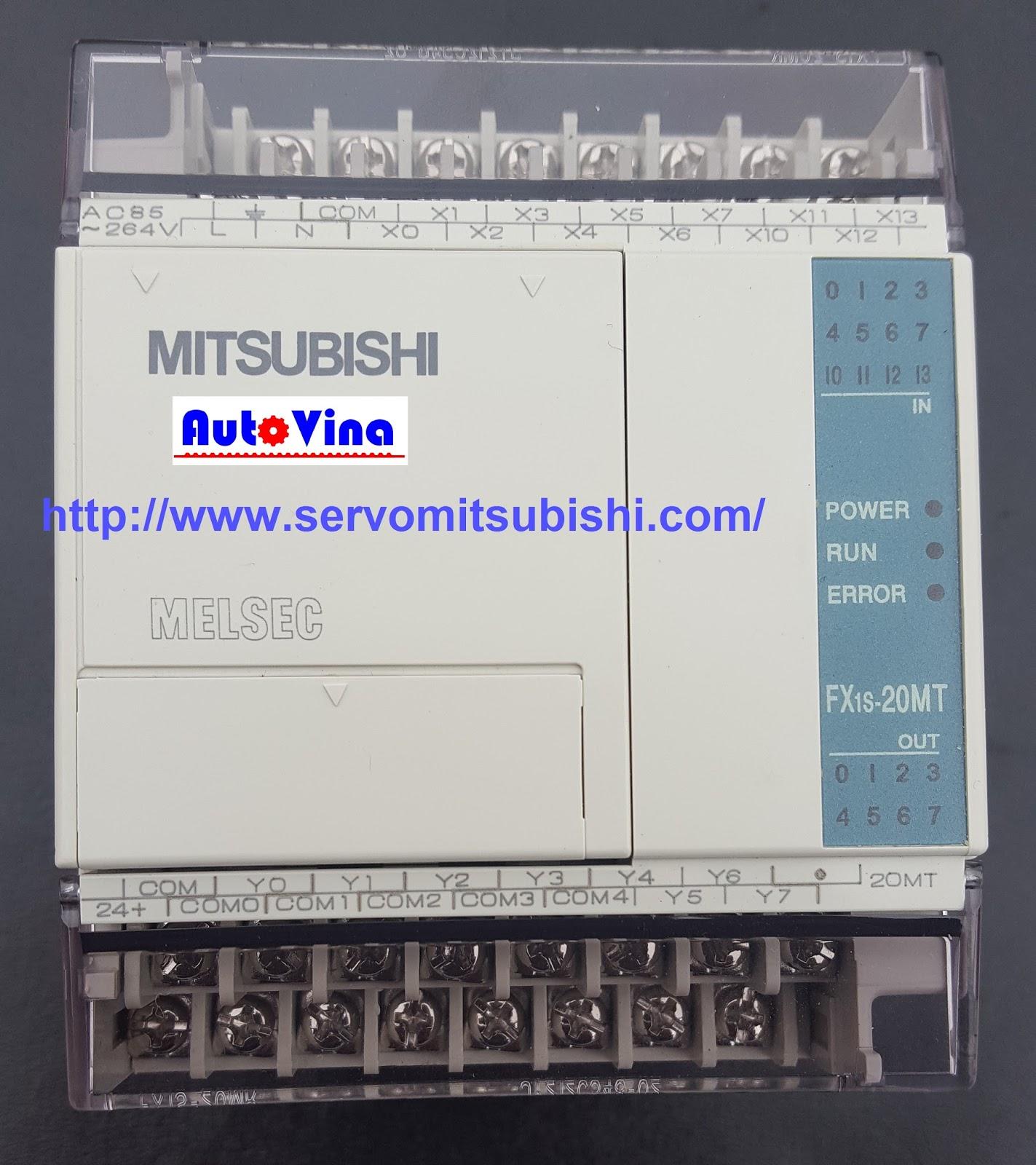 Đại lý bán PLC Mitsubishi Fx1S-20MT-001