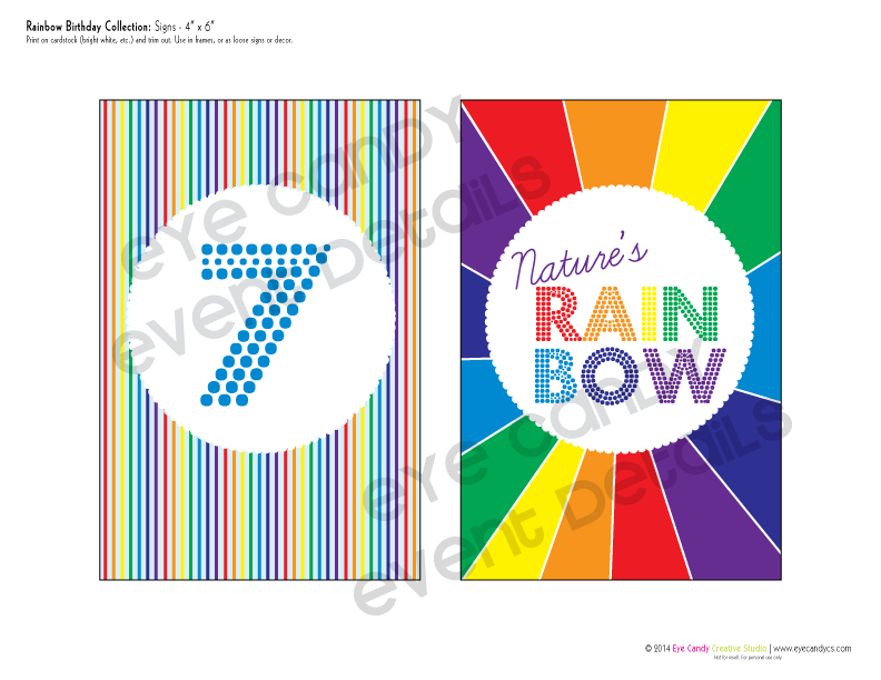 rainbow party, nature's rainbow sign, colors of the rainbow, birthday party