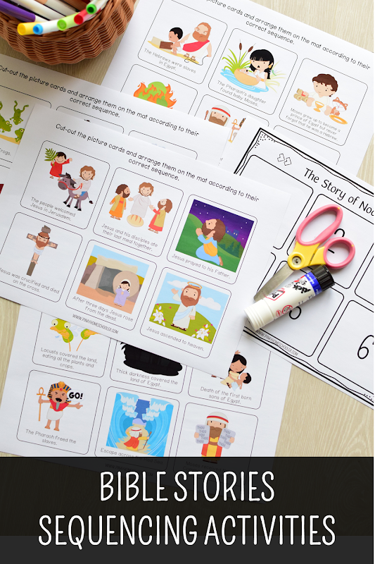 Bible Stories Sequencing Activity Cards