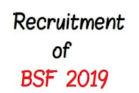 Recruitment of BSF 2019,government jobs