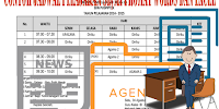 Contoh Jadwal Pelajaran SD/MI Format Words dan Excel
