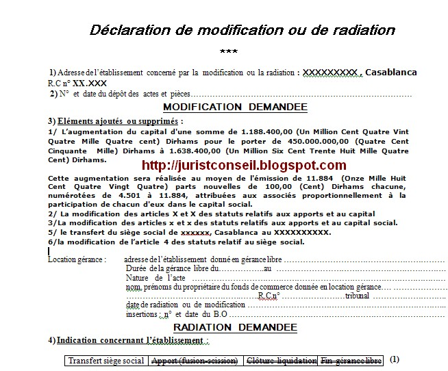 Blog De Droit Marocain مدونة القانون المغربي Les Formalites De